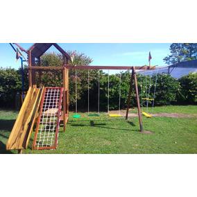 juegos infantiles con mangrullo en madera exterior
