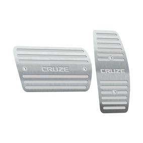 Pedaleira Chevrolet Cruze Automatico 2017 Até 2018 Aço Inox