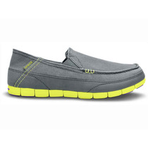 Zapato Crocs Caballero Stretch Sole Loafer M Gris
