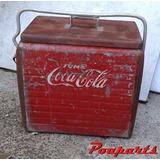 Cooler Coca Cola Antigo Caixa Térmica Em Chapa