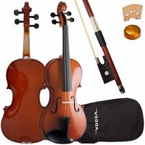 Violino 3/4 Vogga Von134 Crina Animal Estojo Breu Clássico