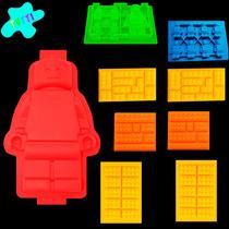 Kit Moldes Lego. Chocolate, Hielo, Jabón, Velas, Repostería.