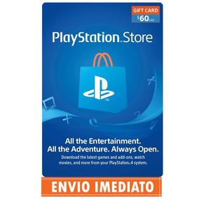 Playstation Network Card Cartão Psn $60 Dólares Usa Imediato