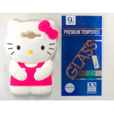 Funda Samsung J7 Hello Kitty 3d Silicon + Templado 9h