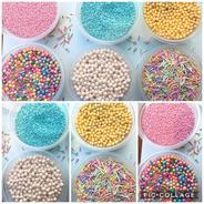 Perla Nacarada Comestible Sprinkles Cupcake Dulces Set De 6