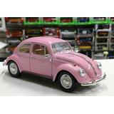 1:24 Volkswagen Classical Beetle 1967 Rosa Kinsmart Display