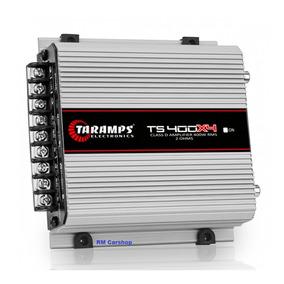 Amplificador Taramps Ts400 X4 Canais Sub Corneta Tweeter Rca