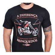 Camiseta Homens E Meninos Moto Custom Harley Honda Suzuki
