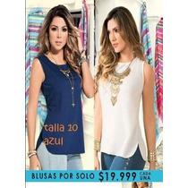 Blusa Carmel Azul Talla 10/l