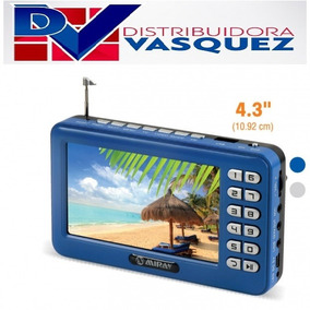 Televisor Portátil Recargable Tv Led Mp5 Radio Fm Video Usb