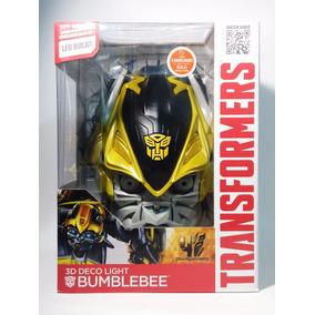 Bumblebee Transformers Lampara De Pared 3d Deco Light Led