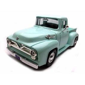 Miniatura Ford F100 1955 Pickup 1 24 Camionete Ferro Verde