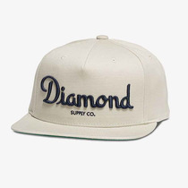 Boné Diamond Supply Co Champagne Cream - Snapback