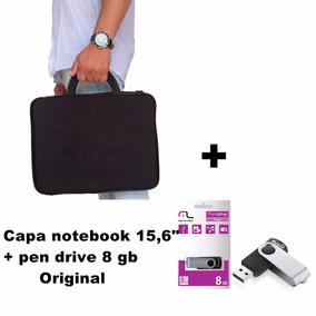 Pasta P/ Notebook Dell Positivo 15,6 Pol. + Pen Drive 8 Gb