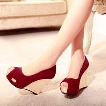 Sandalia Plataforma Vermelho