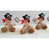 20 Mini Tubetes Piratas Tubete Lembrancinhas Biscuit Tubetes