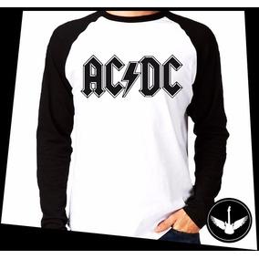 Manga Longa Acdc Logo Banda Rock Camisa Comprida Blusa 12