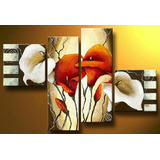 Cuadros Abstractos Decorativos Al Oleo Sobre Lienzo