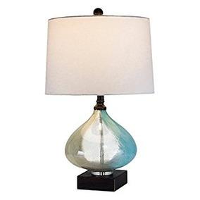 Brite Lite Am244 Lámpara De Mesa Vidrio Y Resina