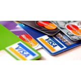 Pack 12 Calcos Tarjetas De Crédito Y Débito Para Vidrieras