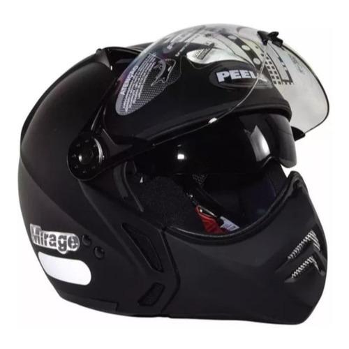 Capacete para moto multi-modular Peels Mirage New Classic preto tamanho 60