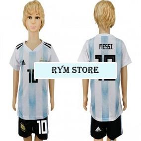 Conjunto Futbol adidas Argentina Mundial 2018 Niños Messi