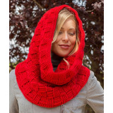 Cuello Tejido Crochet O 2 Agujas Lana A Mano Artesanal
