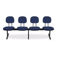 Longarinas E Cadeiras Para Igrejas - 4 Lugares Injetada