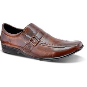 d8b05582e Sapato Social Fivela Masculino Couro Legítimo Leoppé Whisky