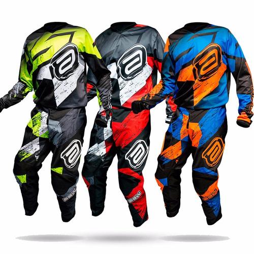 Conjunto Kit Cal?a + Camisa Asw Factory Linha 2018 Motocross