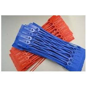 1000 Lacres Plastico Numerados Rompe Fácil 23 Cm