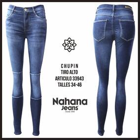 Jeans Chupin Elastizados Nahana Talle 42