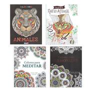 Paquete Mandalas Para Iluminar Colorear Terapia Libro Estres
