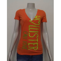 Camiseta Feminina Hollister Co. Nova E Original No Brasil !!
