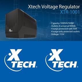 Regulador De Voltaje Xtech Avr 1000va/500w 8 Tomas