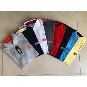 Kit 5 Camisas Hugo Boss Polo Originais Cores A Sua Escolha e3a3ccf413