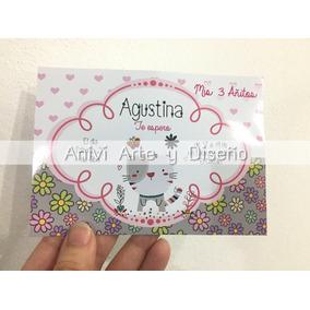 Invitación Gato Gatito Cumpleaños Infantil