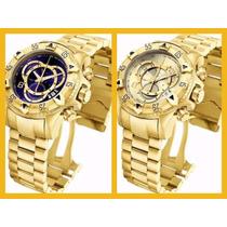 Kit 2 Relógios Masculino Dourado Em Aço Frete Gratis