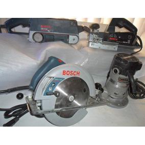 Equipo De Carpinteria Bosch Lijadora Cepillo Router Sierra