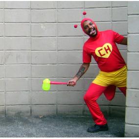 Fantasia Chapolim Ou Chapolinha Adulto Completa Carnaval