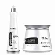 Kit Platinum Shock Professional Mutari Sh 500ml Masc 950gr