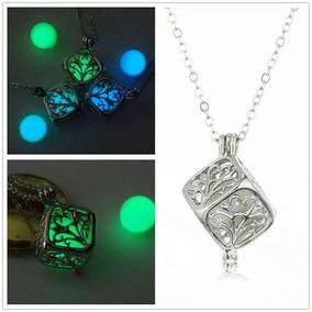 4 Collares Dije Luminiscente Brilla Oscuridad Envío Gratis