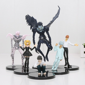 Kit 6 Bonecos + Caderno Original Death Note C Pena Ryuk