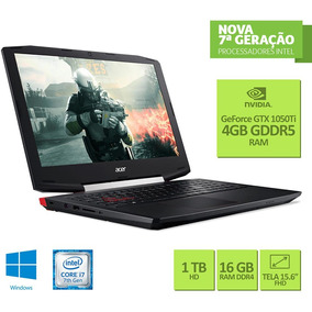 Notebook Gamer Acer, Intel Core I7, 16gb, Hd 1tb, Gtx 1050ti