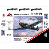 Messerschmitt Bf-109 C-1 Placa Modelo De Plástico 148 Arsen
