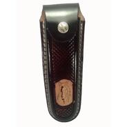 Canivete Churrasqueiro Com Bainha Capa De Couro Em Inox 26cm