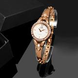 Relógio De Pulso Feminino Dourado Da Moda Lindo Promoção