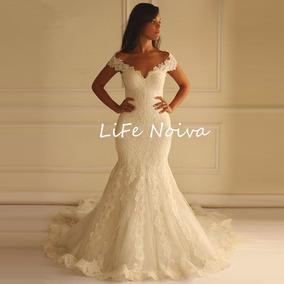 Vestido Noiva Casamento Semi Sereia Pronta Entrega