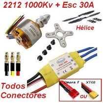 Combo Aeromodelo Brushless 2212 1000kv + Esc 30a + Hélice