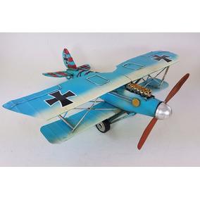 Avion Antiguo En Miniatura Decorativo Chapa Escala